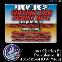 Ever Monday is Vintage Car Cruise Night at Cadillac Lounge