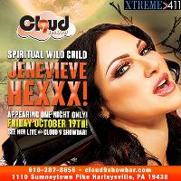 Don't Miss Jenevieve Hexx! Live! Friday Oct. 19th!