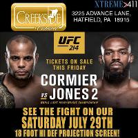UFC 214! See It Live On Our 18 Foot Hi Def Projection Screen!