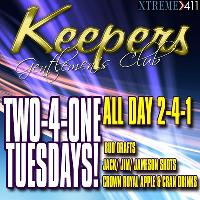 Two 4 One Tues At Keepers In Milford CT!