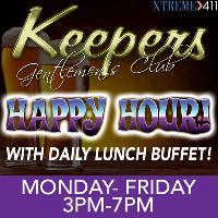Happy Hour at Keepers Milford, CT 3 pm-7 pm Mon-Fri