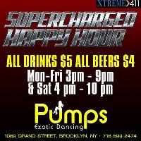 SUPERCHARGED HAPPY HOUR AT PUMPS NY!