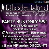 PARTY BUS ONLY $99 at Rhode Island Dolls RI
