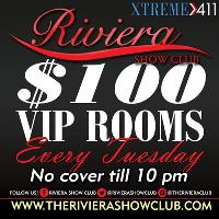 $100 VIP Rooms Every Tues At Riviera In Worcester MA!