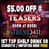 $5.00 Off Admission & A Free Drink! Show At The Door & The Bar!