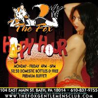 Daily Happy Hour @ The Fox! Free Buffet!