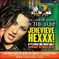 Don't Miss Jenevieve Hexx! Live! Saturday Oct. 20th!