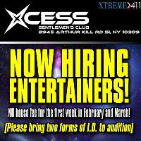 Now Auditioning at Xcess in NY-NO House fee!
